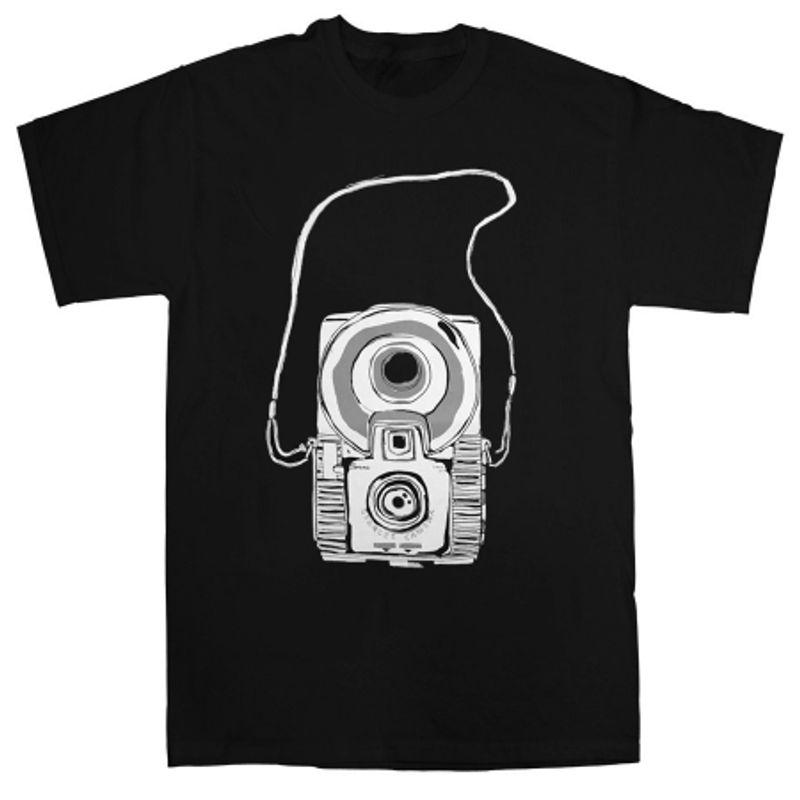 tricou-aparat-retro-negru-marimea-s-27174