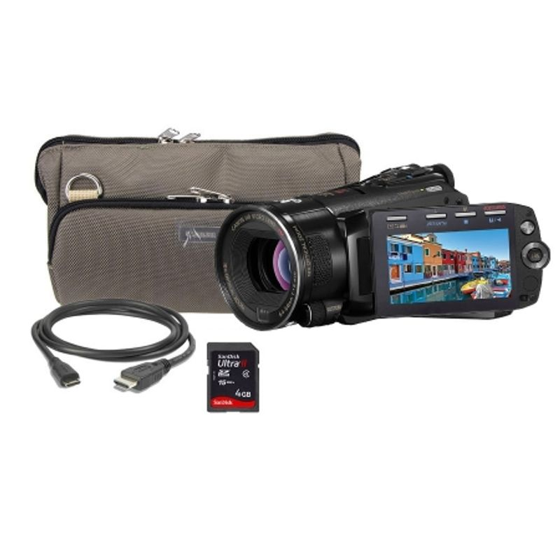 kit-canon-hf-s11-geanta-canon-card-sdhc-sandisk-4gb-ultra-ii-cablu-hdmi-12595