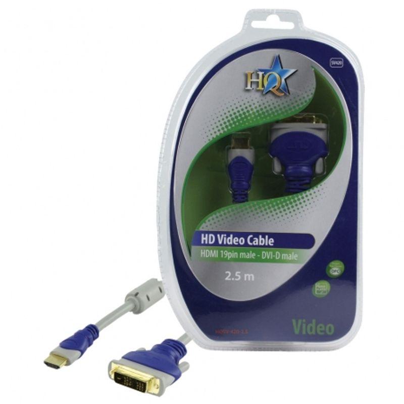 hq-hqsv-420-2-5-cablu-video-hdmi-mare-dvi-d--2-5m-29322