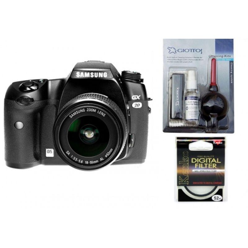 samsung-gx-20-kit-obiectiv-18-55mm-bonus-giottos-cl1001-kenko-protector-mc-digital-52mm-10698