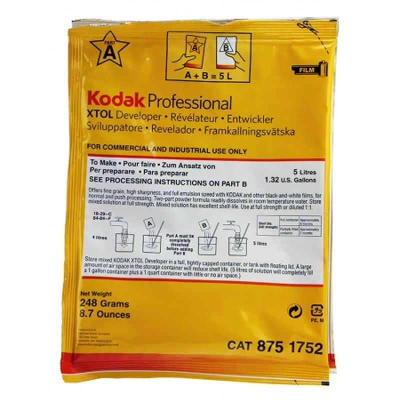 kodak-xtol-a-b-revelator-solid-in-2-parti-pentru-film-alb-negru-pentru-5l-de-substanta-10262