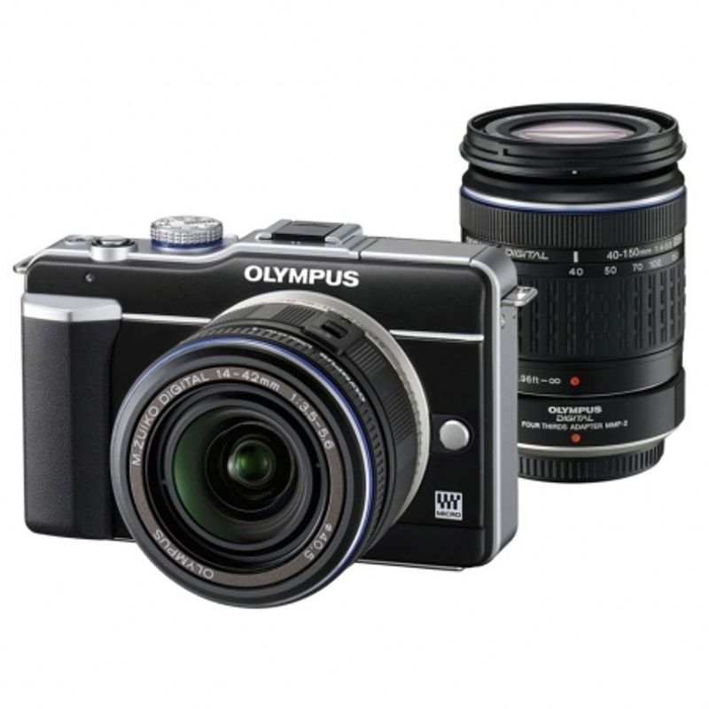 olympus-pen-e-pl1-negru-olympus-mft-zuiko-14-42mm-f-3-5-5-6-negru-olympus-zuiko-ed-40-150mm-f-4-5-6-micro-negru-12918