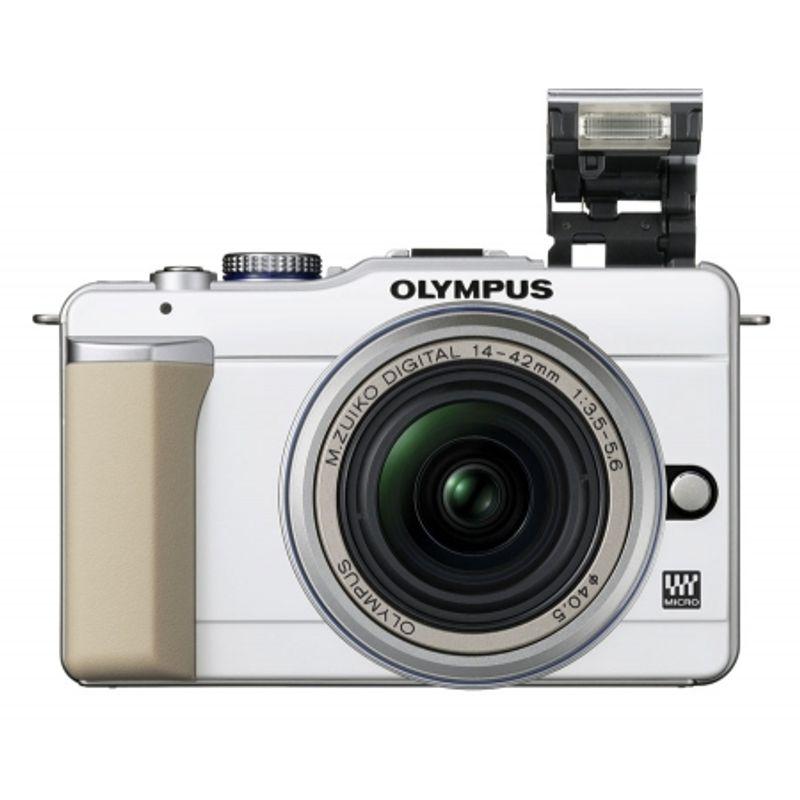 kit-olympus-pen-e-pl1-alb-olympus-mft-zuiko-14-42mm-f-3-5-5-6-argintiu-olympus-zuiko-ed-40-150mm-f-4-5-6-negru-adaptor-olympus-mmf-2-12919-4