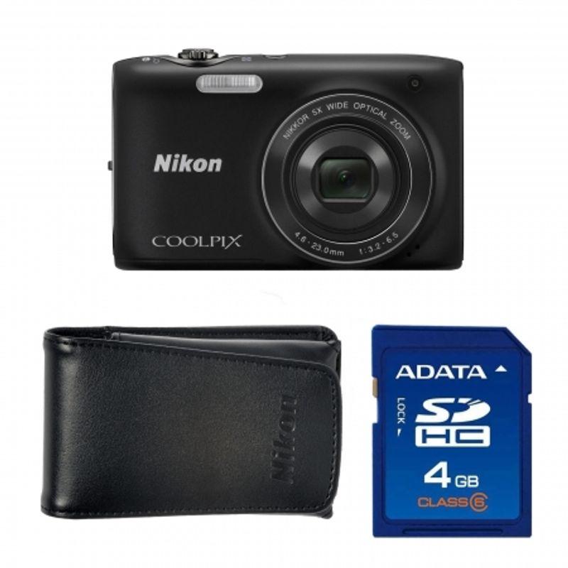 nikon-coolpix-s3100-black-card-sd-4gb-geanta-nikon-seria-s-18146