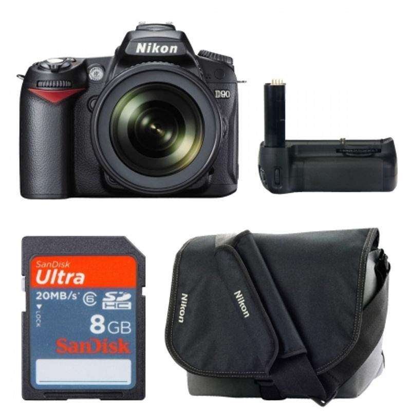 nikon-d90-kit-18-105mm-vr-grip-replace-d90-std-card-sdhc-8gb-sandisk-ultra-geanta-foto-nikon-cf-eu05-18371
