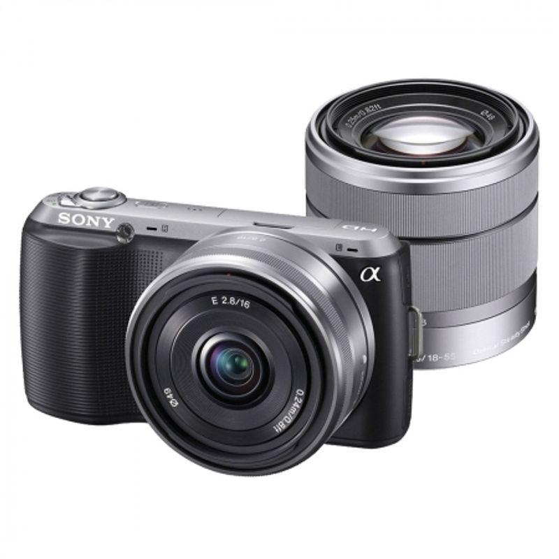 sony-nex-c3-negru-kit-dublu-obiectiv-16mm-f-2-8-obiectiv-18-55mm-oss-f-3-5-5-6-20306