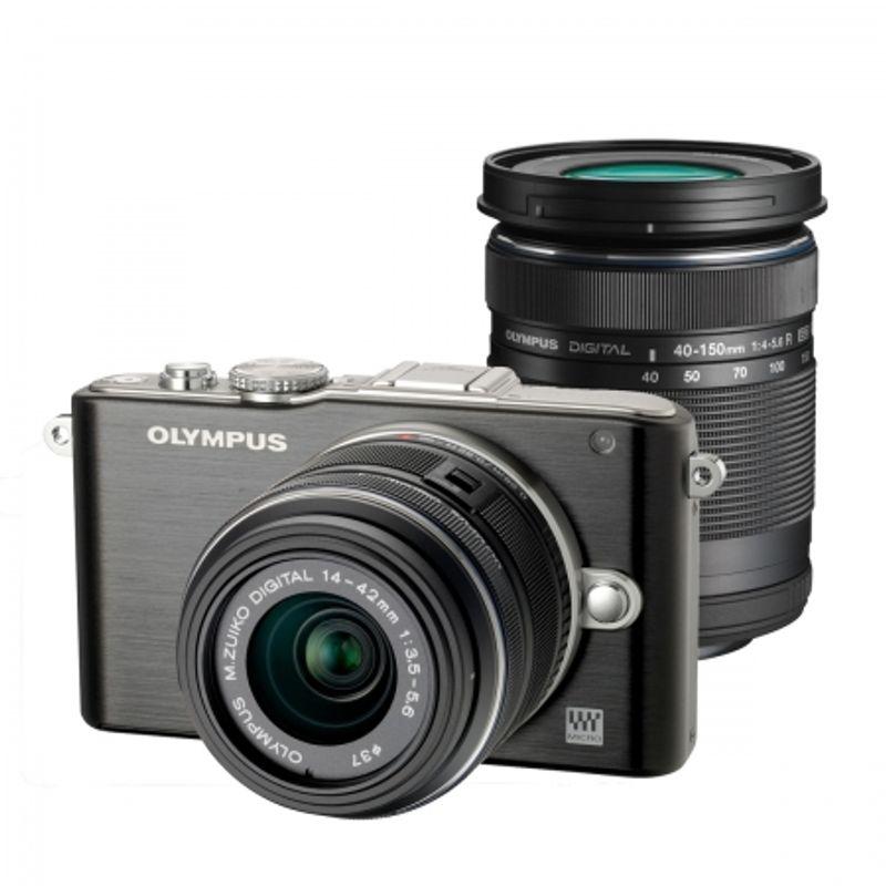 olympus-e-pl3-black-kit-obiective-ez-m1442-ii-r-black-ez-m40150r-black-dzk-21810