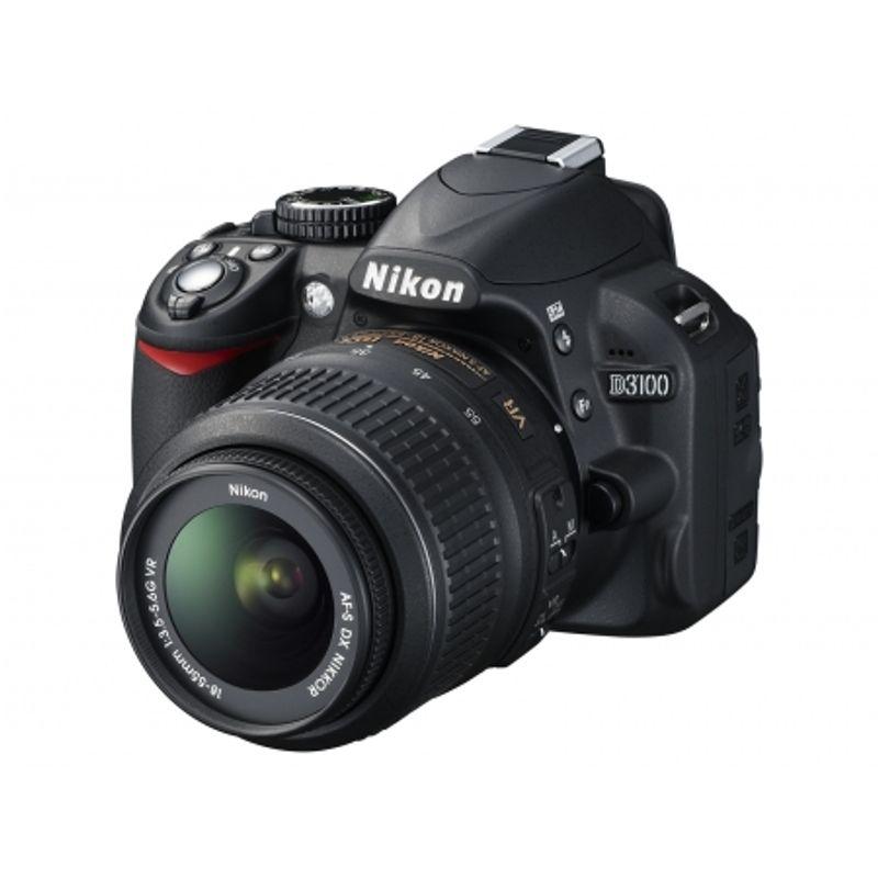 nikon-d3100-negru-dublu-kit-18-55mm-vr-55-200mm-vr-geanta-nikon-cf-eu05-card-sandisk-sdhc-8gb-extreme-video-30mb-s-cabluri-hdmi-usb-21872-2
