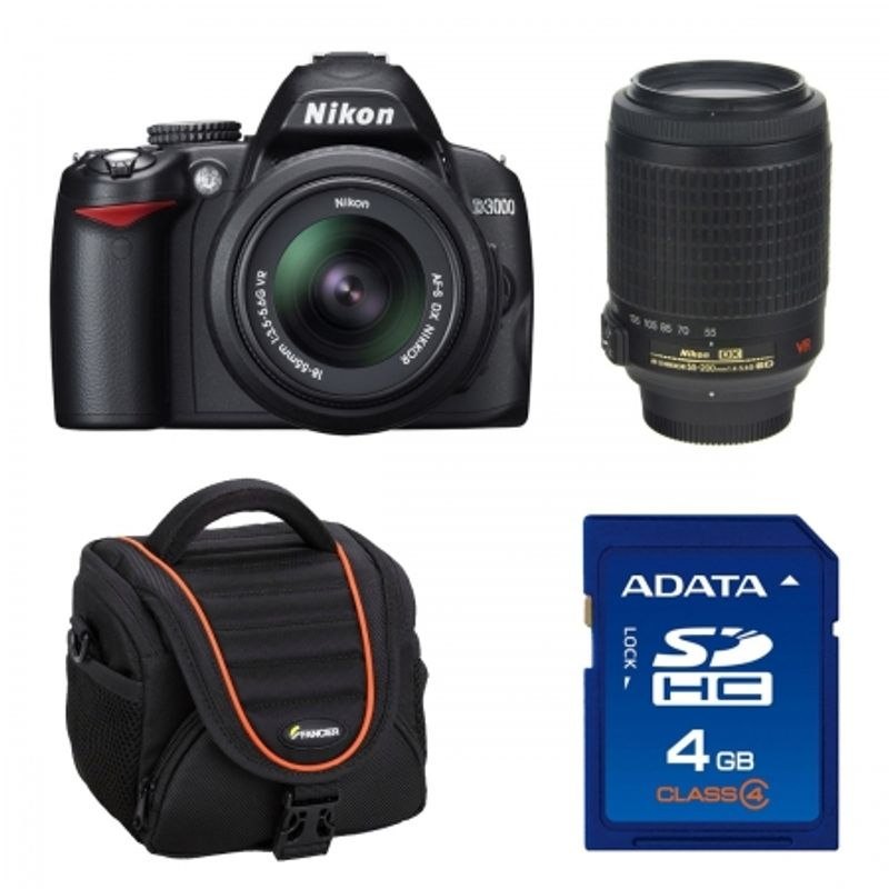 nikon-d3000-kit-18-55mm-vr-af-s-dx-nikon-55-200-vr-geanta-alpha40-sd-a-data-4gb-class-4-22079