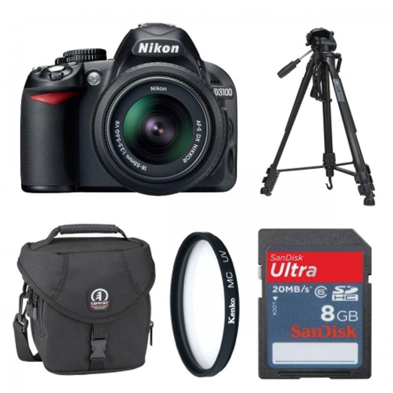 nikon-d3100-negru-kit-18-55mm-vr-geanta-tamrac-5231-trepied-wt3530-card-sd-8gb-filtru-uv-52mm-cabluri-hdmi-si-usb-22180