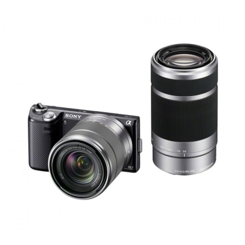 sony-nex-5n-negru-dublu-kit-18-55mm-55-210mm-22421