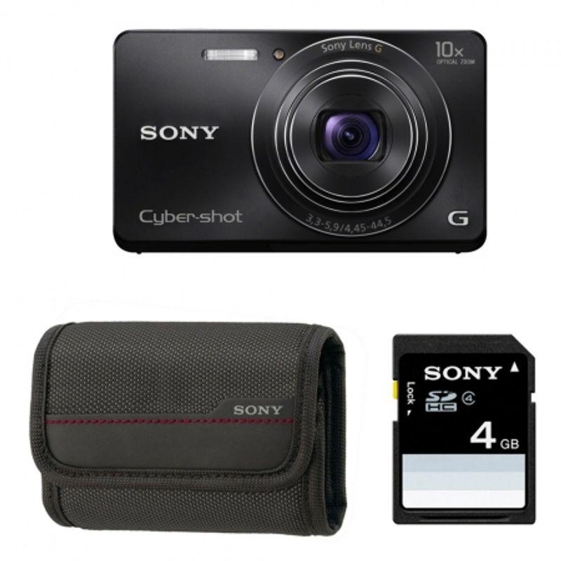 sony-cyber-shot-w690-negru-card-sd-sony-4gb-husa-22683