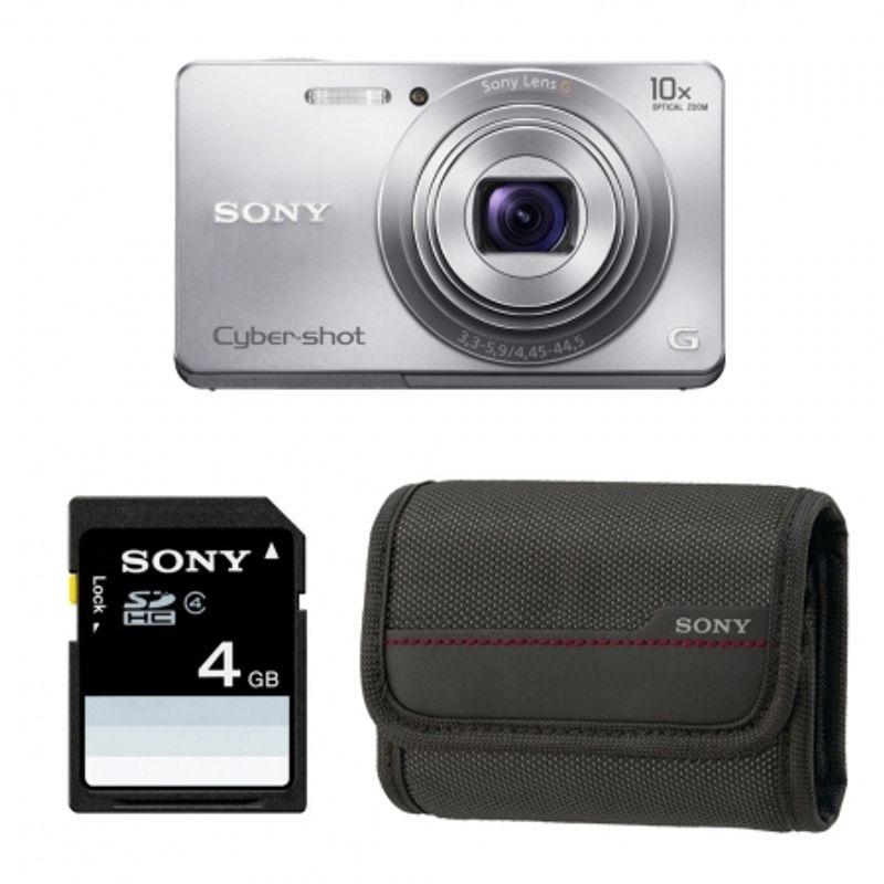 sony-cyber-shot-w690-argintiu-card-sd-sony-4gb-husa-22684