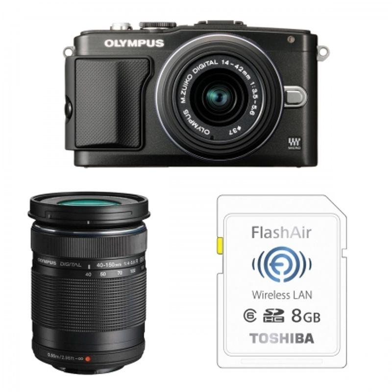 olympus-pen-e-pl5-negru-ez-m1442-ii-r-ez-m4015-r-bonus-card-wireless-8gb-flashair-23968