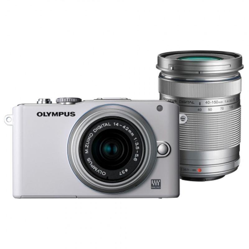 olympus-e-pl3-alb-kit-obiective-olympus-m-zuiko-digital-14-42mm-argintiu-olympus-m-zuiko-digital-40-150mm-argintiu-24844