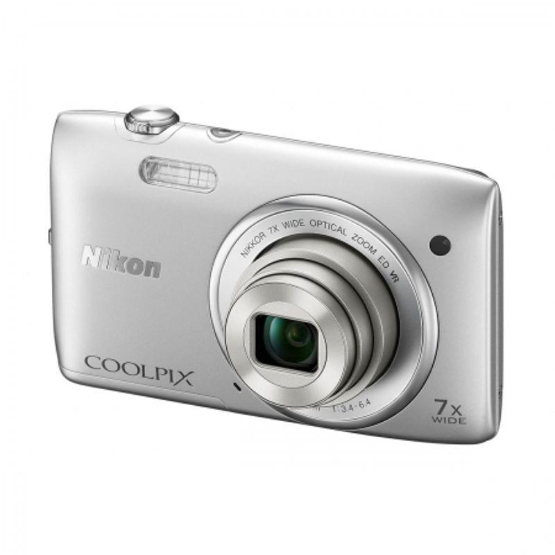 nikon-coolpix-s3500-argintiu-27997