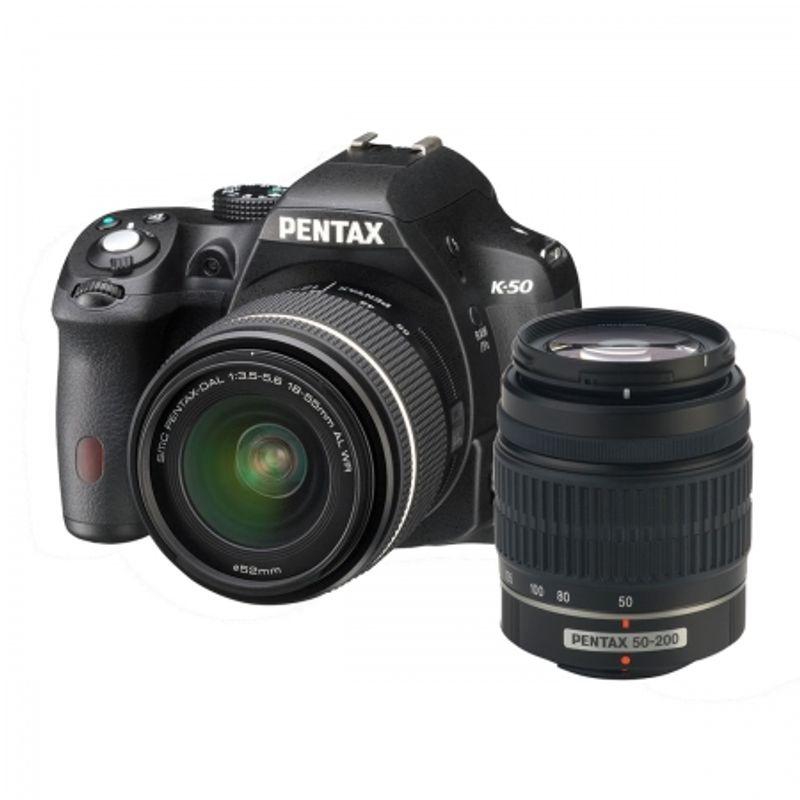 pentax-k-50-smc-da-18-55mm-f3-5-5-6-wr-smc-da-50-200mm-f4-5-6-wr-negru-28176