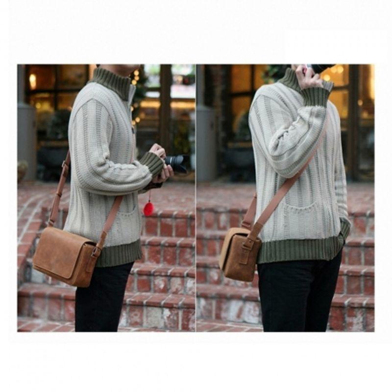 matin-m-9848-vintage-bag-matte-mini-brown-geanta-foto-video-25303-3