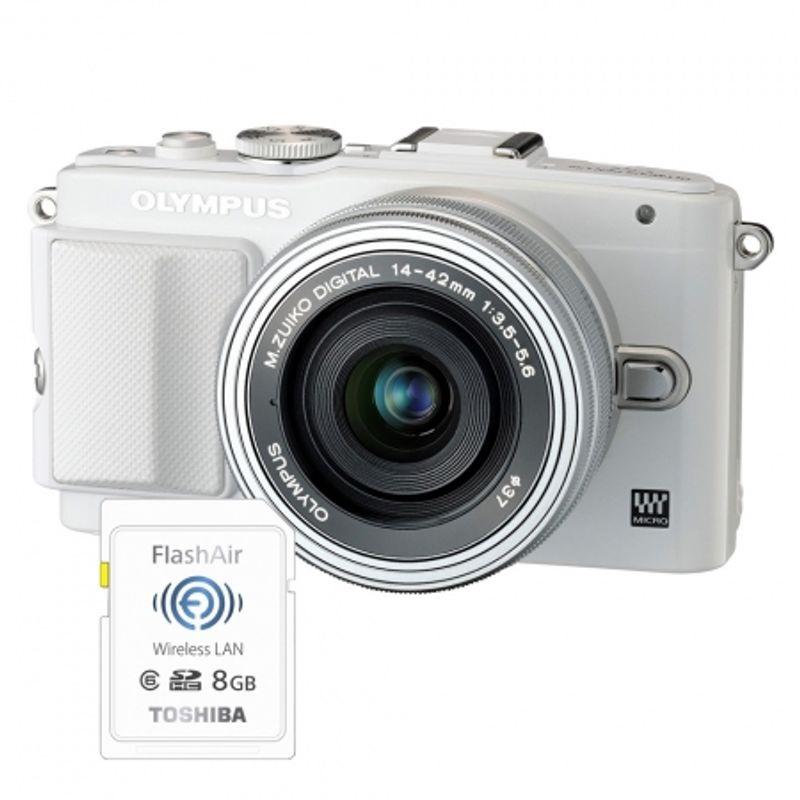 olympus-e-pl6-alb-ed-14-42mm-f-3-5-5-6-ez-argintiu-card-sd-8gb-flash-air--36719