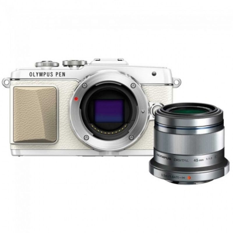 olympus-portrait-kit-olympus-e-pl7-obiectiv-45mm-1-1-8--argintiu-53030-743