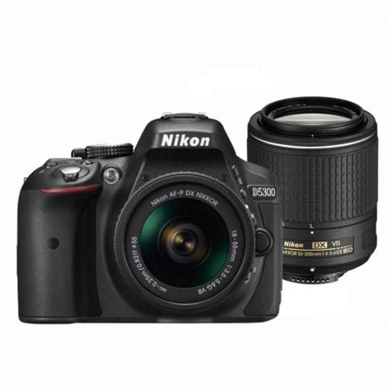nikon-d5300-dual-zoom-kit--af-p-18-55-vr-55-200-vrii--negru--54098-815