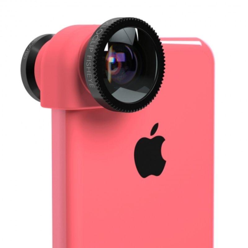ollo-clip-sistem-lentile-3-in-1--fisheye--wide-angle--macro-pentru-iphone-5c-roz-31726