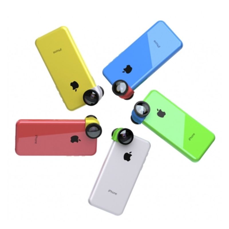 ollo-clip-sistem-lentile-3-in-1--fisheye--wide-angle--macro-pentru-iphone-5c-galben-31728-3