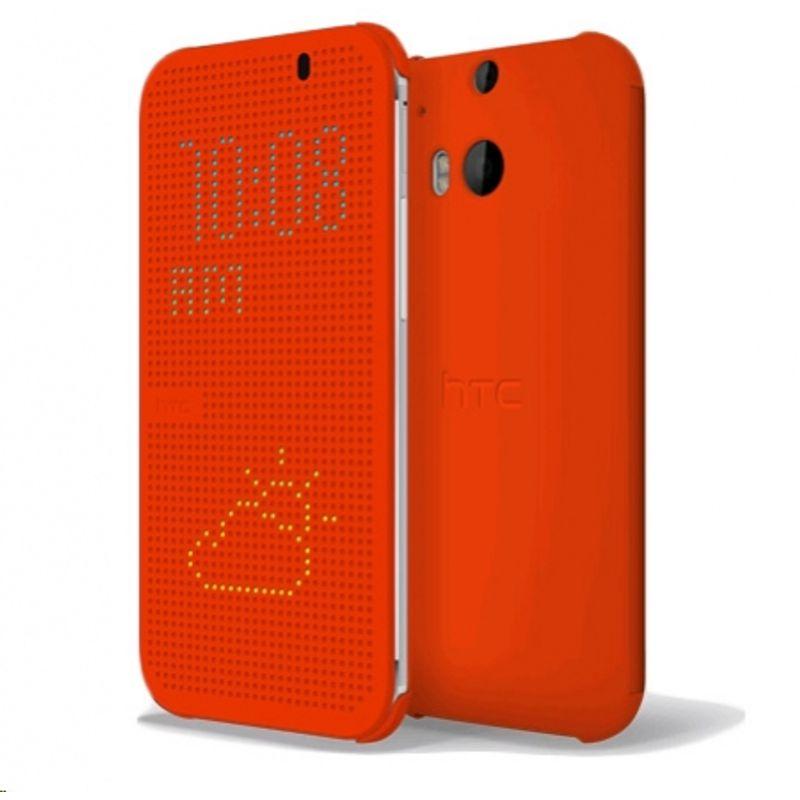 htc-m100-portocaliu-husa-protectie-dot-view-pentru-one-m8-33861