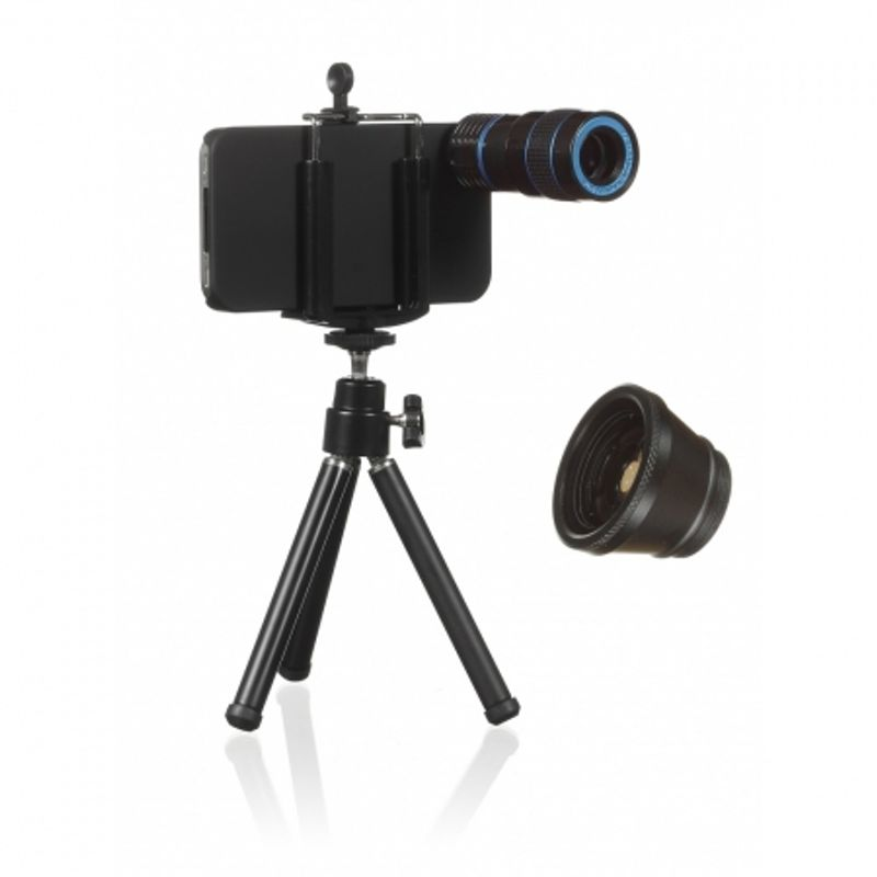 kitvision-pachet-obiective-iphone-4-4s--fisheye--zoom--carcasa--holder-si-trepied-34985