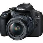 Kit DSLR Incepatori Canon EOS 2000D 24.1MP cu Obiectiv EF-S 18-55mm IS II cu Stabilizare
