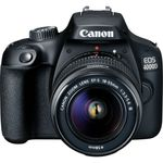 Canon EOS 4000D Aparat Foto DSLR 18MP CMOS FullHD Kit cu Obiectiv EF-S 18- 55 F/3.5-5.6 III Negru