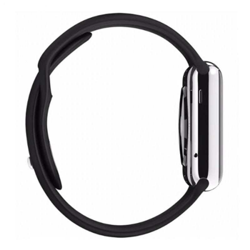 apple-watch-38mm-carcasa-otel-inoxidabil-si-curea-sport-neagra-42880-2