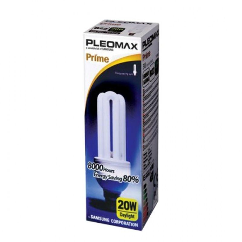 pleomax-tu20-bec-fluorescent-e27-20w-3u-6400k-32134