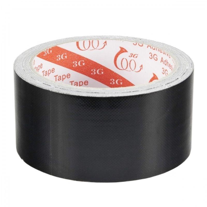 kathay-cloth-adhesive-tape-black-banda-adeziva-negru-mat-50m-x-48mm-34805