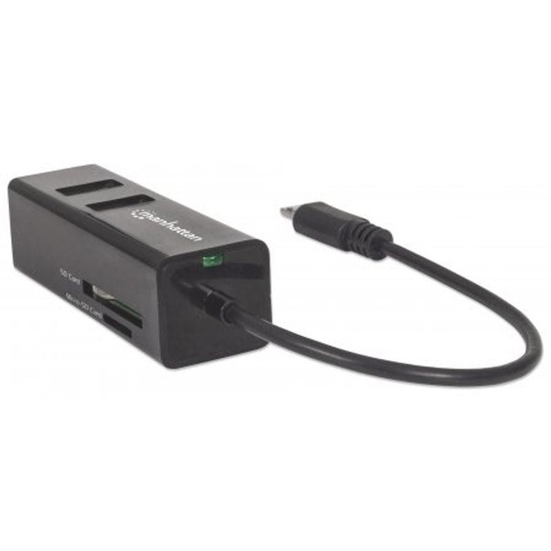manhattan-import-hub-mobile-otg-adapter--micro-usb-2-0-to-3-port-usb-2-0-hub--24-in-1-card-reader-writer-51197-1-722