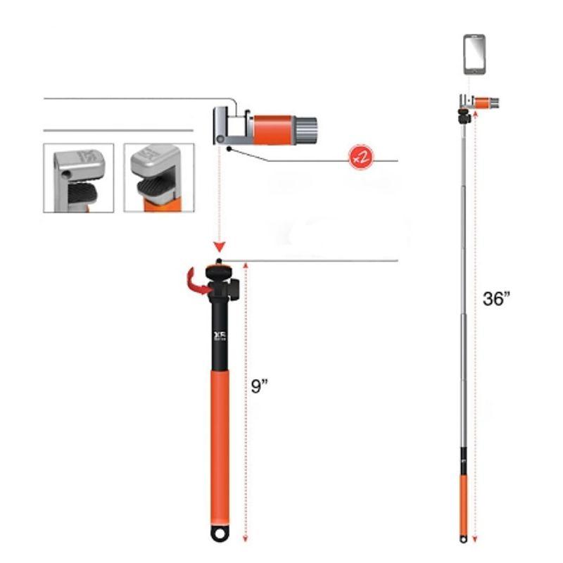 xsories-me-shot-deluxe-2-0-selfie-stick-93cm-cu-telecomanda--portocaliu-negru-42448-2
