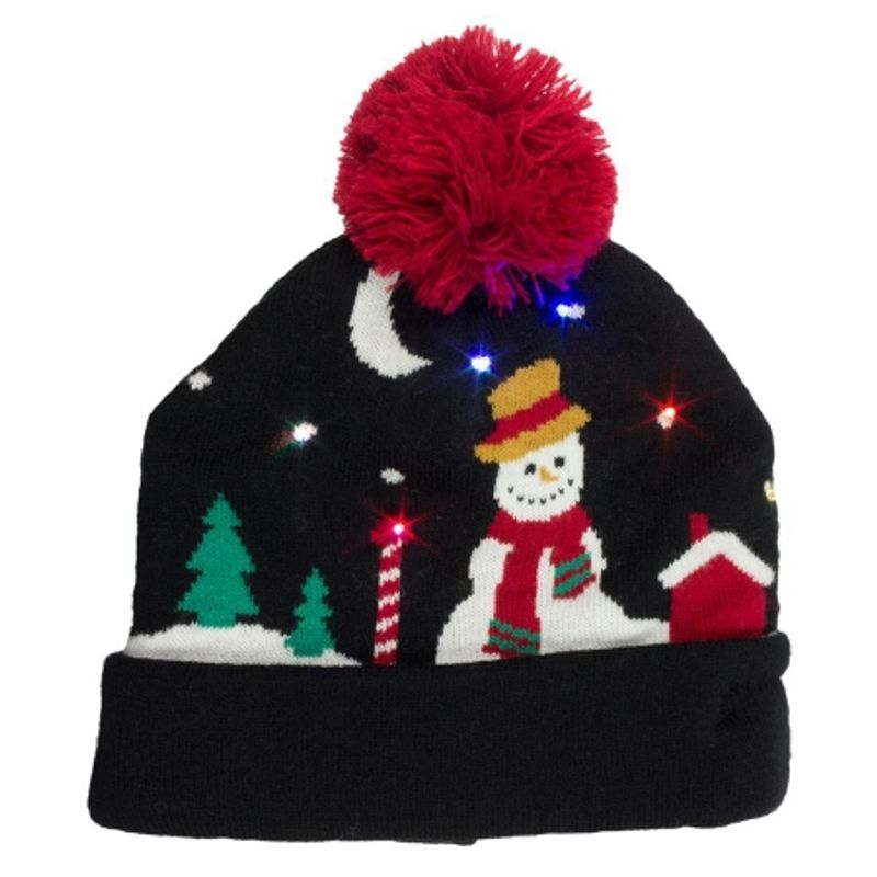 kitsound-caciula-cu-led-uri-colorate---snowman----negru-46633-3-907