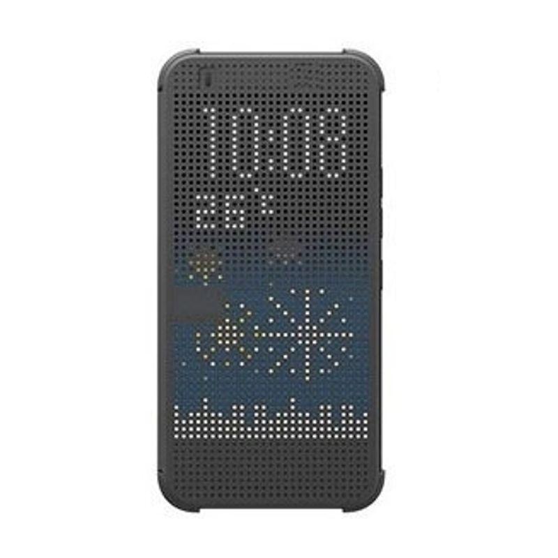 cronos-husa-dot-view-pentru-htc-e9-gri-52818-419