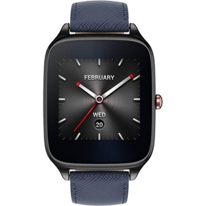 asus-smartwatch-zenwatch-2-carcasa-otel-inoxidabil-negru---curea-albastra-54640-276