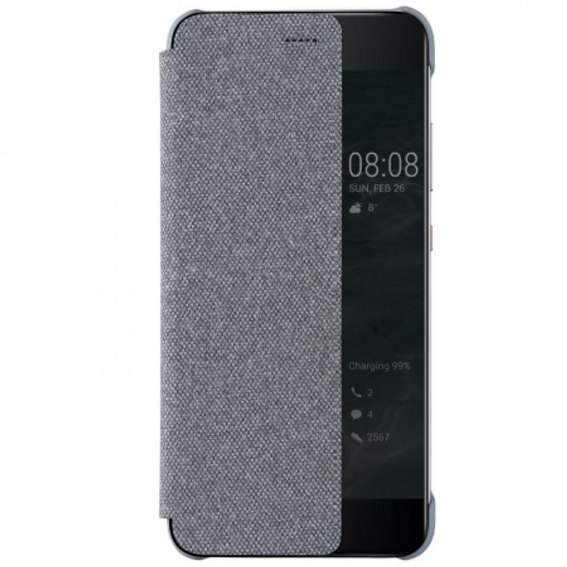 huawei-p10-plus-husa-flip-tip-smart-view-cover-gri-deschis-61186-801