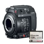 Canon EOS C200 Body Camera Cinema Profesionala 4K plus Card de Memorie CF 128 GB