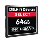 Delkin-Select-Card-de-Memorie-CF-64GB-UDMA-6