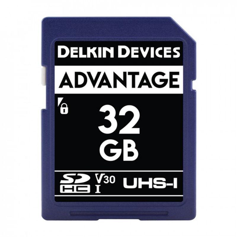 Delkin-Advantage-Card-de-Memorie-SDHC-32GB-UHS-I-660X-V30