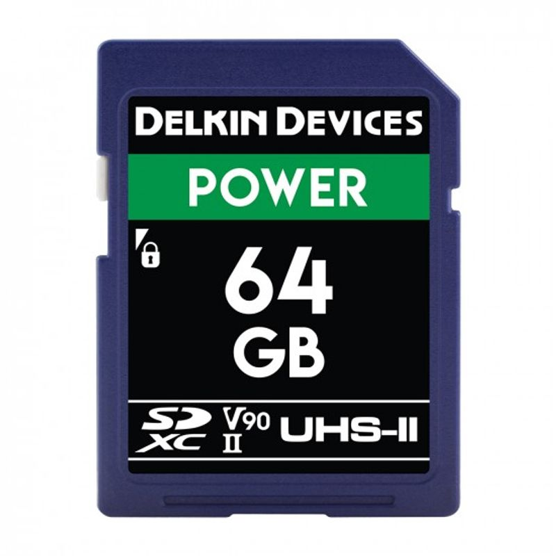 Delkin-Power-Card-de-Memorie-SDXC-64GB-UHS-II-2000X-V90