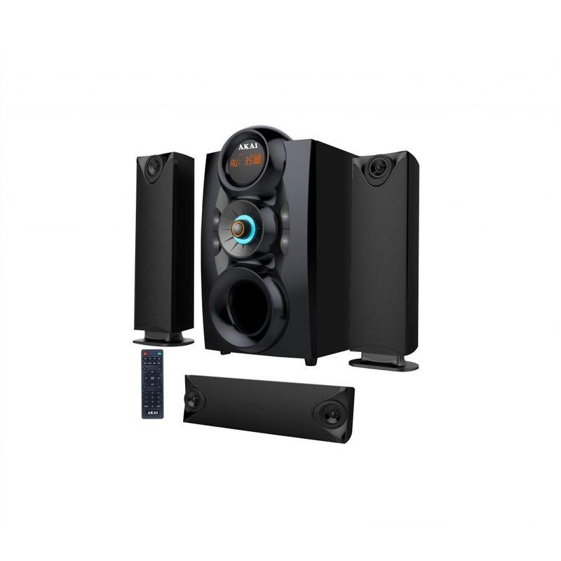 Akai-SS028A-3208C-Sistem-Audio-3.1-Bluetooth-Radio-FM-Negru