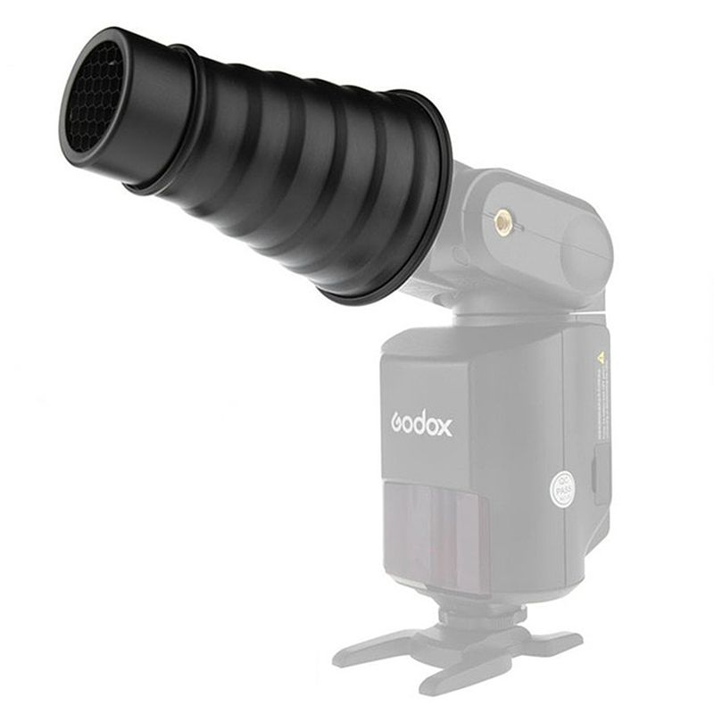 Godox-AD-S9-Photography-Accessories-Aluminum-alloy-Snoot-with-Honeycomb-Grid-for-WITSTRO-Speedlite-Flash-AD180