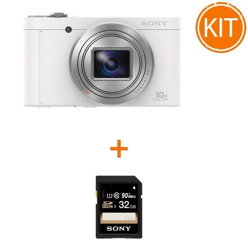 Kit-Sony-DSC-WX500-Alb---Sony-SDHC-32GB