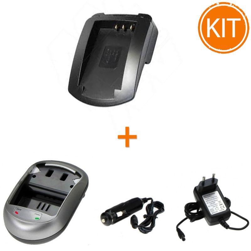 Kit-Incarcator-Power3000-pentru-acumulator-Fujifilm-tip-NP-120---Bonus-adaptor-auto