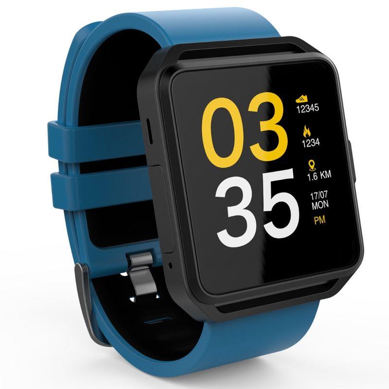 Smartwatch-MaxCom-FitGo-FW15-Square-bratara-silicon-Blue