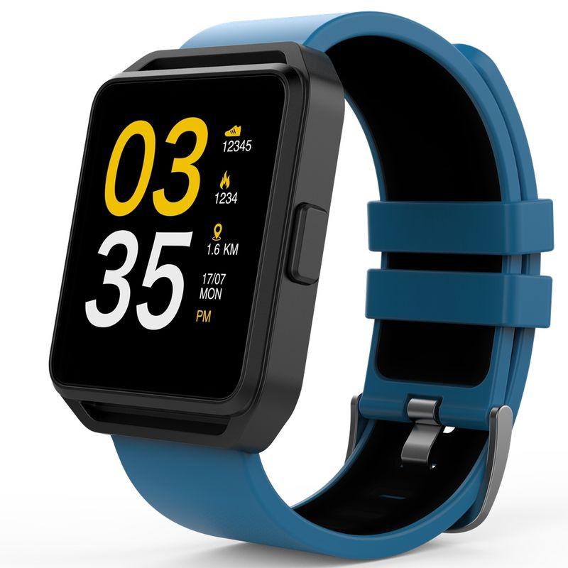 Smartwatch-MaxCom-FitGo-FW15-Square-bratara-silicon-Blue-1